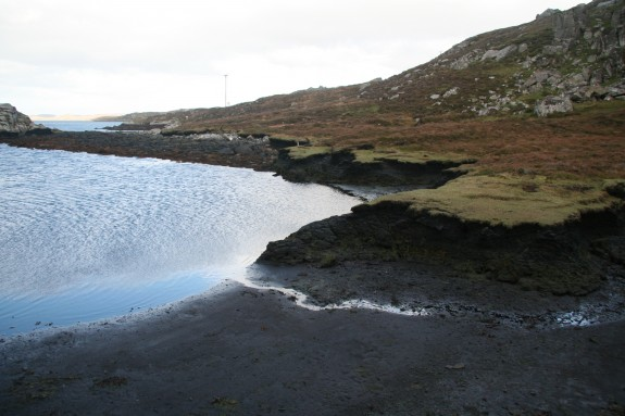 Sheltered intertidal bays and lagoons contain evidence of well preserved organic material, in some cases several 1000s of years.
