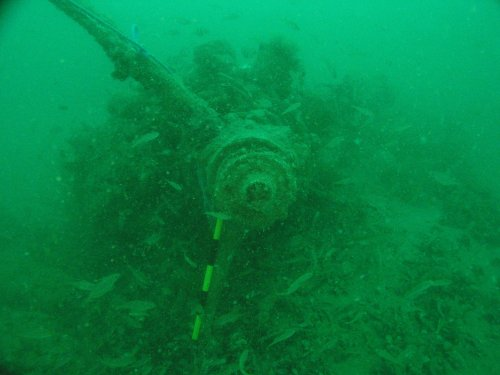 B-17 engine found in the English Channel (further details at https://www.wessexarch.co.uk/projects/marine/alsf/wrecks_seabed/wrecks/5002/5002.htm)l