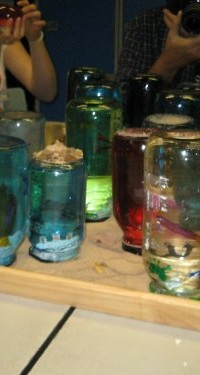 Jam jar snow globes made by Southampton YAC