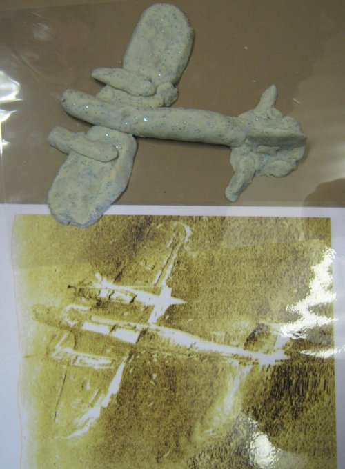 A WW2 Dornier modelled by Year Four pupils.