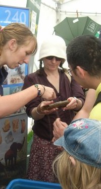 Outreach Officer Gemma Ingason with crowds at the Norfolk Show