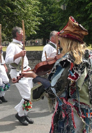 Morris dancing at Salisbury and South Wiltshire Museum